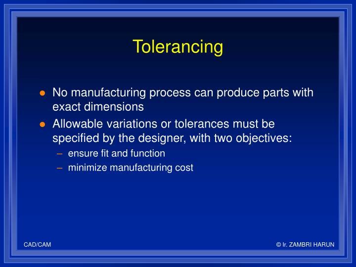 Tolerancing