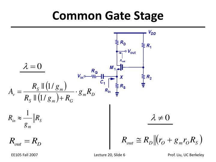 Common Gate Stage