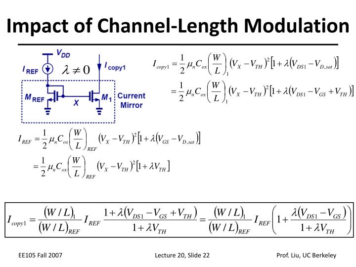 Impact of Channel-Length Modulation
