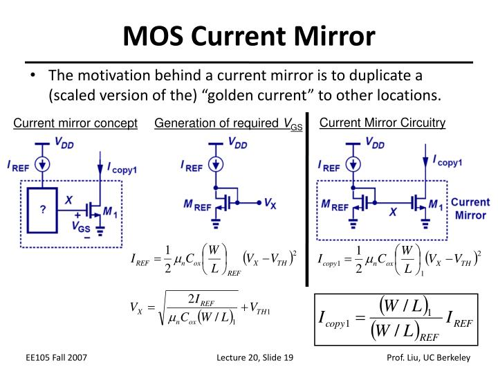 MOS Current Mirror
