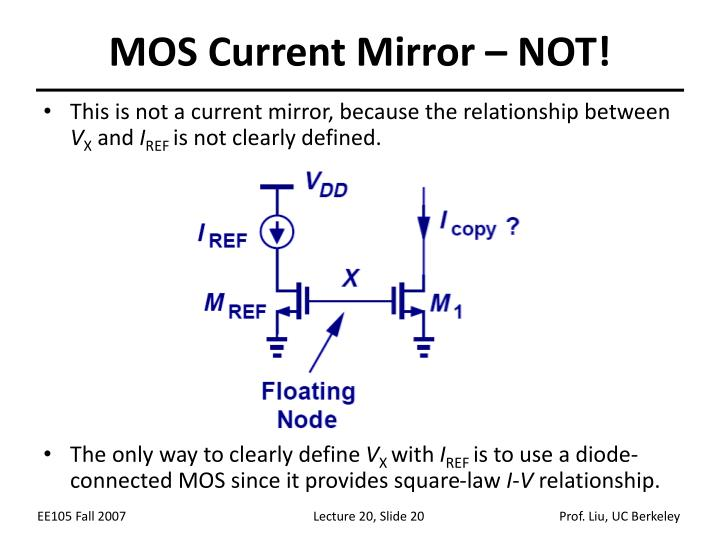 MOS Current Mirror – NOT!