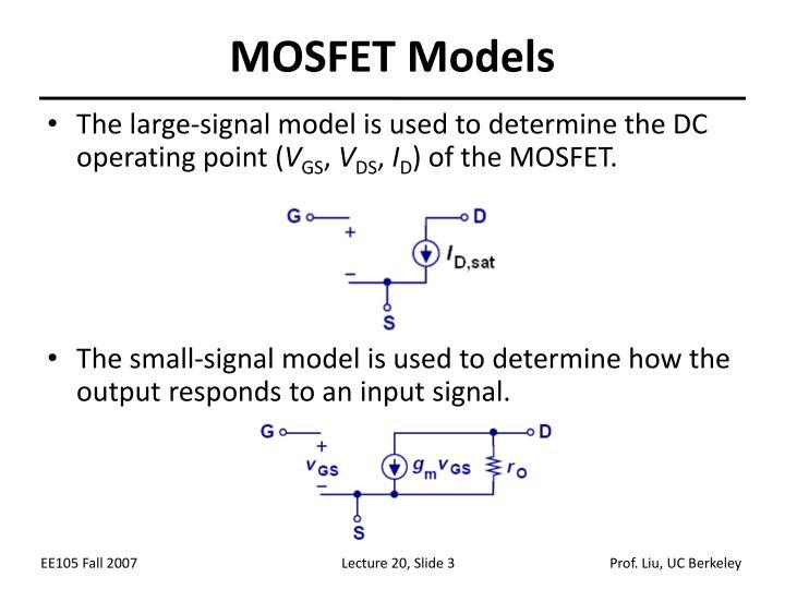 MOSFET Models