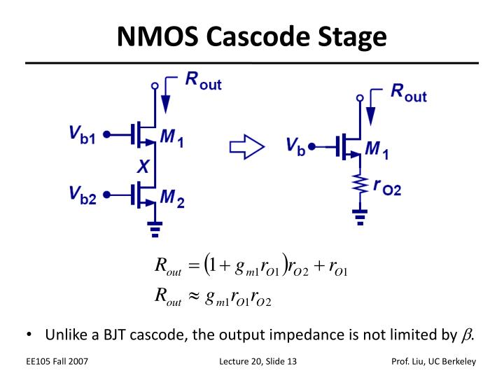 NMOS Cascode Stage