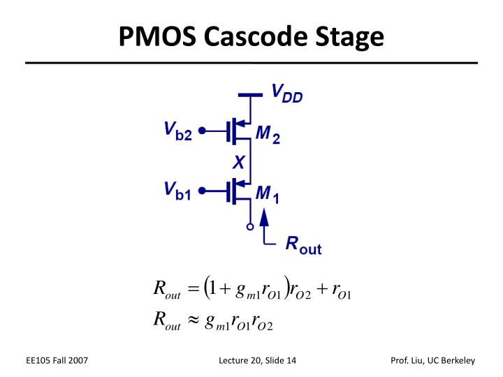 PMOS Cascode Stage