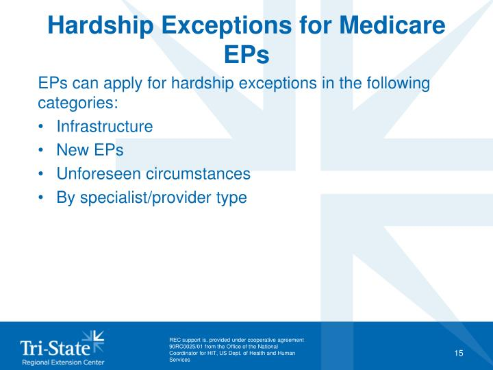 Hardship Exceptions for Medicare EPs