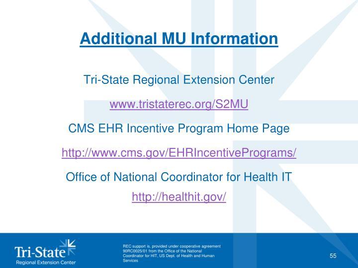Additional MU Information