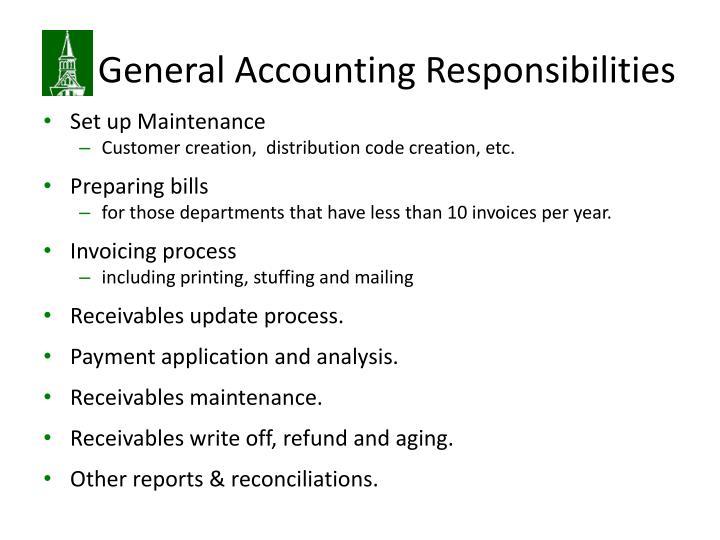 accounting responsibilities responsibility