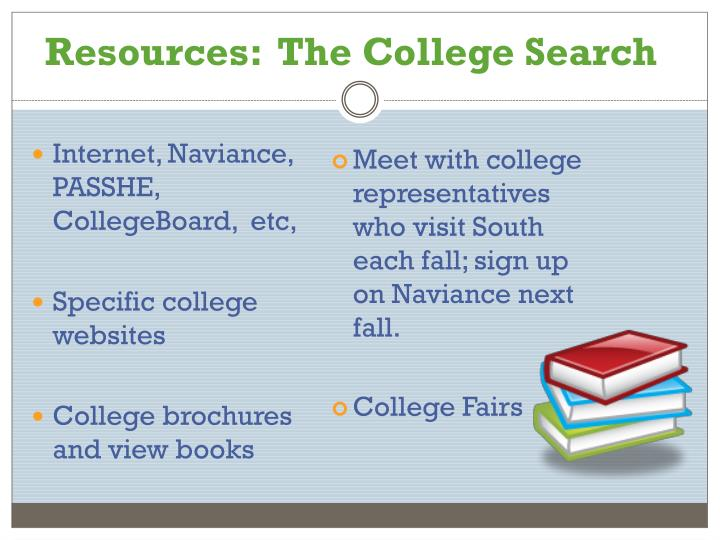 Resources:  The College Search
