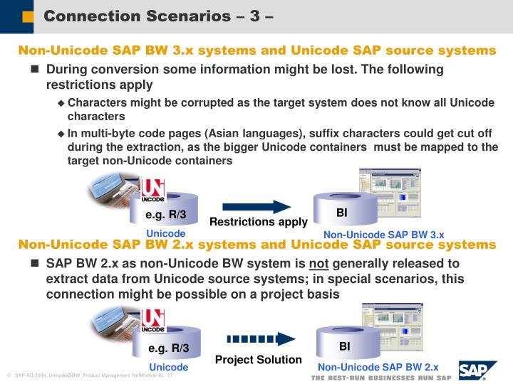 Connection Scenarios – 3 –