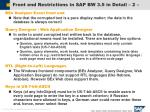 front end restrictions in sap bw 3 5 in detail 2