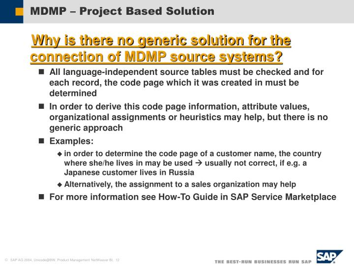 MDMP – Project Based Solution