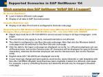 supported scenarios in sap netweaver 04