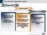 the unicode upgrade project