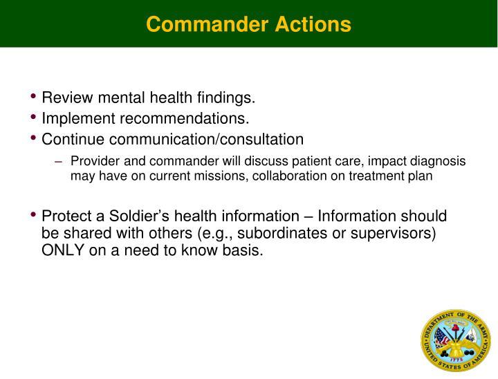 Commander Actions