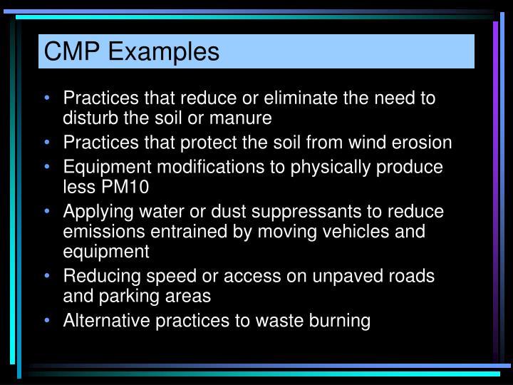 CMP Examples