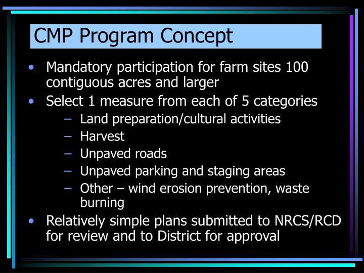 CMP Program Concept