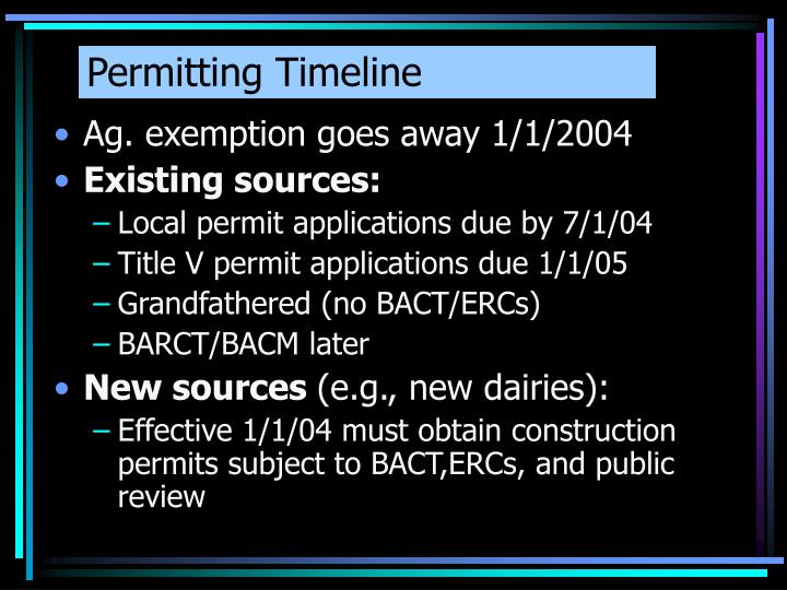 Permitting Timeline