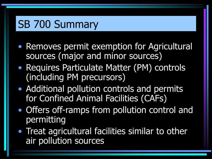 SB 700 Summary