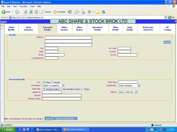ABC SHARE & STOCK BROK LTD