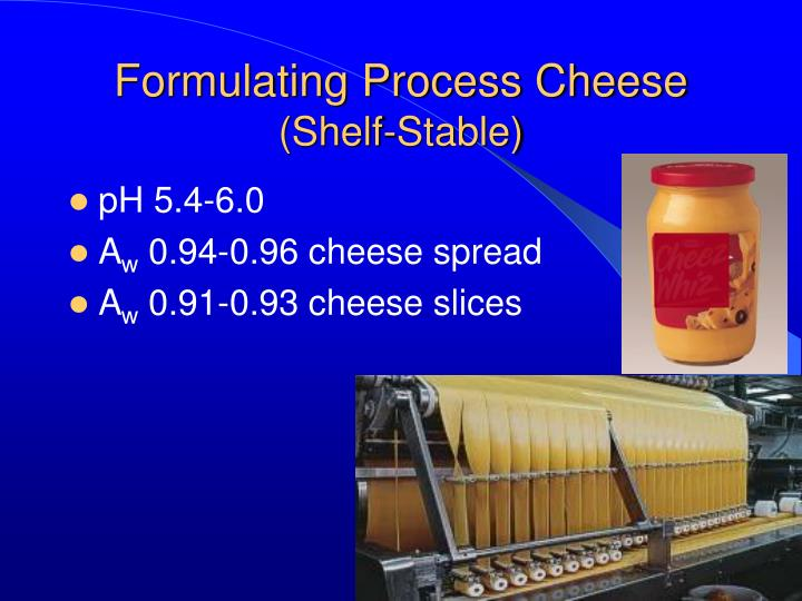 Formulating Process Cheese