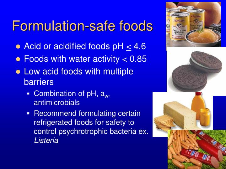 Formulation-safe foods