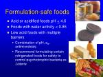 formulation safe foods1