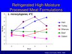 refrigerated high moisture processed meat formulations