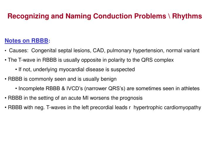 Recognizing and Naming Conduction Problems \ Rhythms
