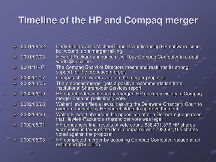 compaq hp merger essay Open document below is an essay on hp and compaq culture after the merger from anti essays, your source for research papers, essays, and term paper examples.