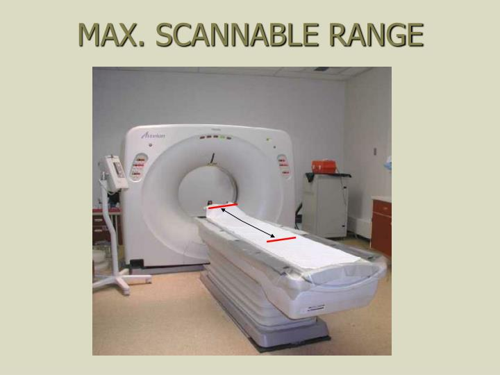 MAX. SCANNABLE RANGE