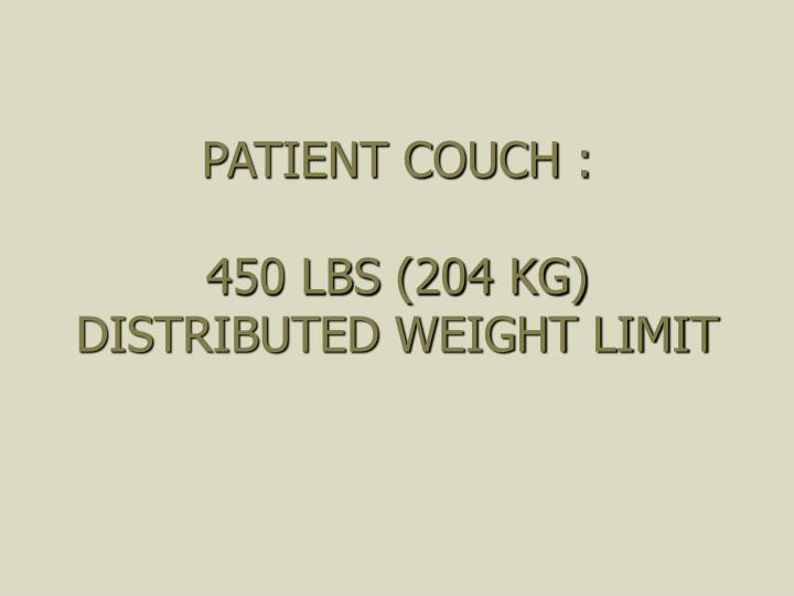 PATIENT COUCH :