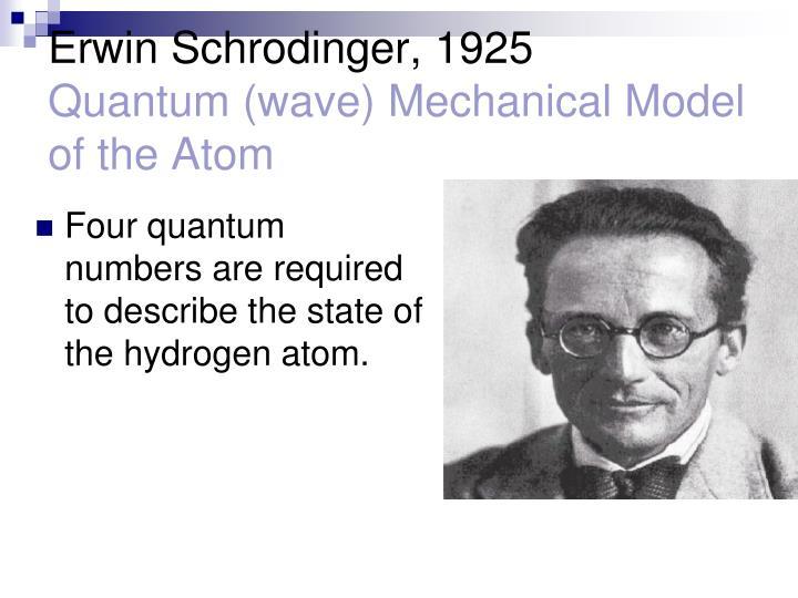 Erwin Schrodinger, 1925