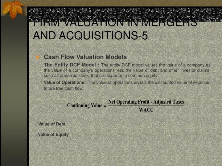 FIRM VALUATION IN MERGERS AND ACQUISITIONS-5