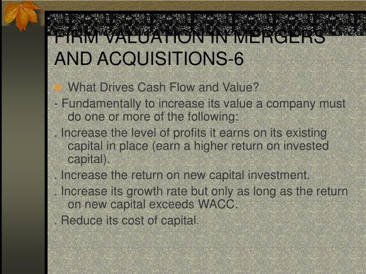 FIRM VALUATION IN MERGERS AND ACQUISITIONS-6