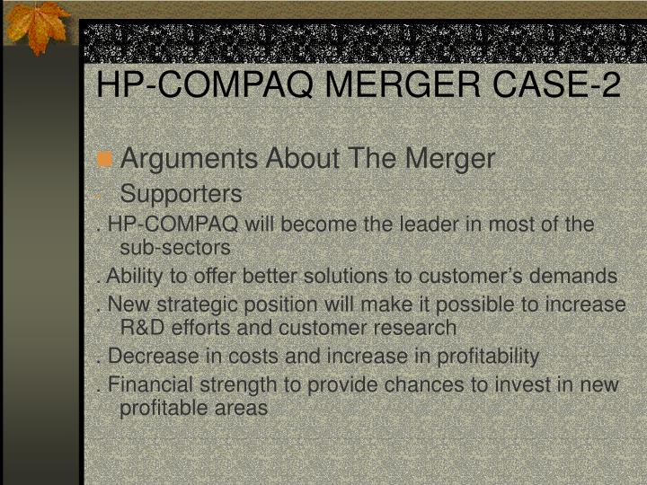 HP-COMPAQ MERGER CASE-2