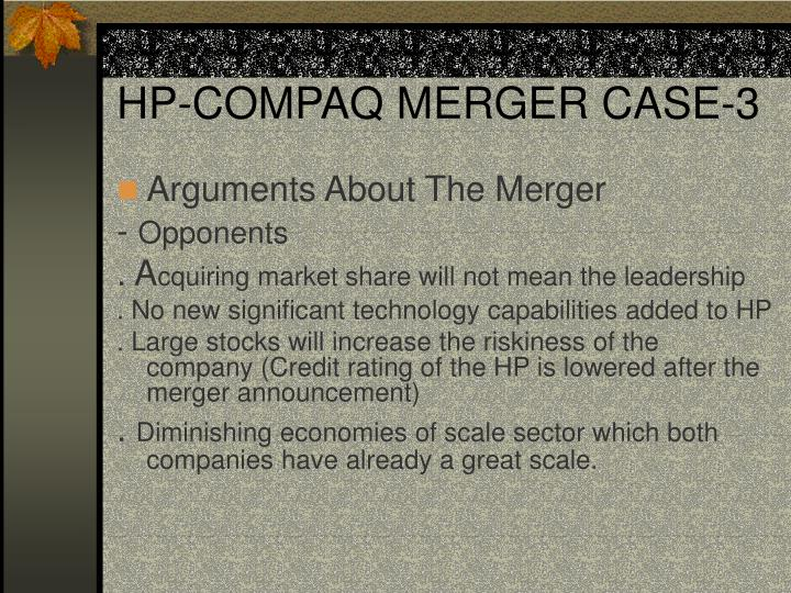 HP-COMPAQ MERGER CASE-3