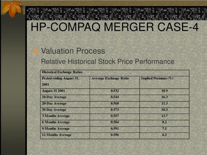 HP-COMPAQ MERGER CASE-4