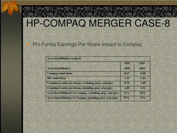 HP-COMPAQ MERGER CASE-8