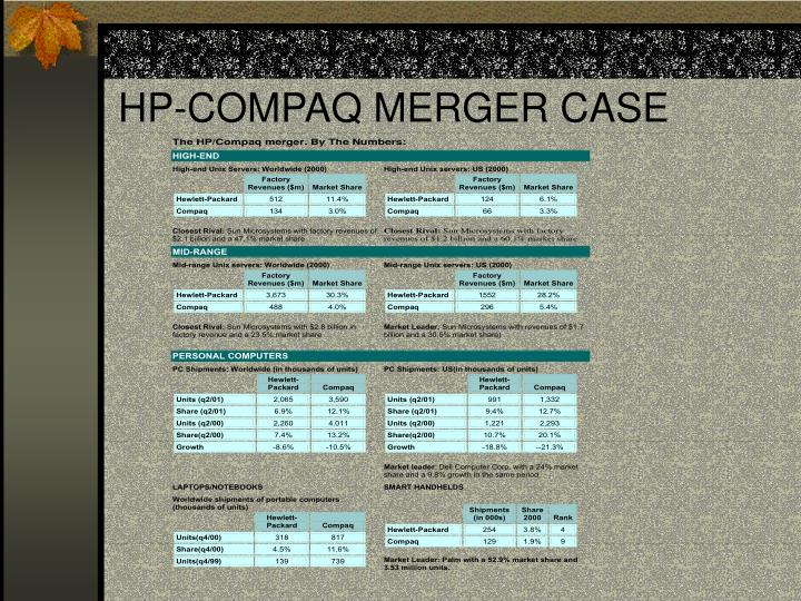 HP-COMPAQ MERGER CASE