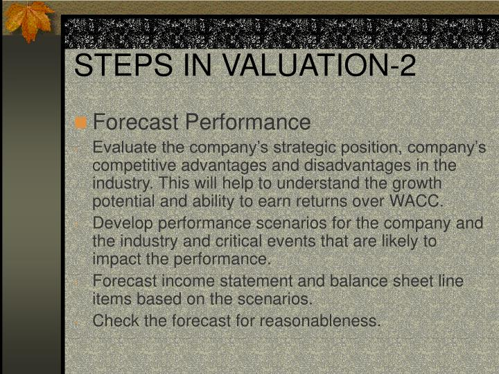 STEPS IN VALUATION-2