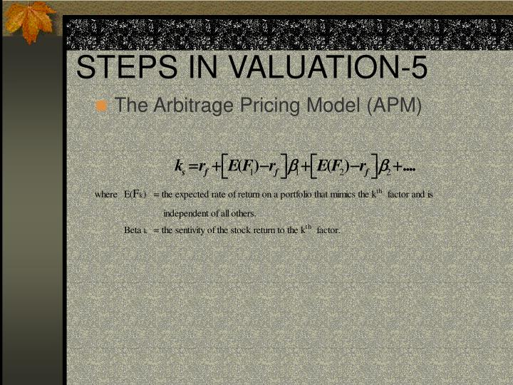 STEPS IN VALUATION-5