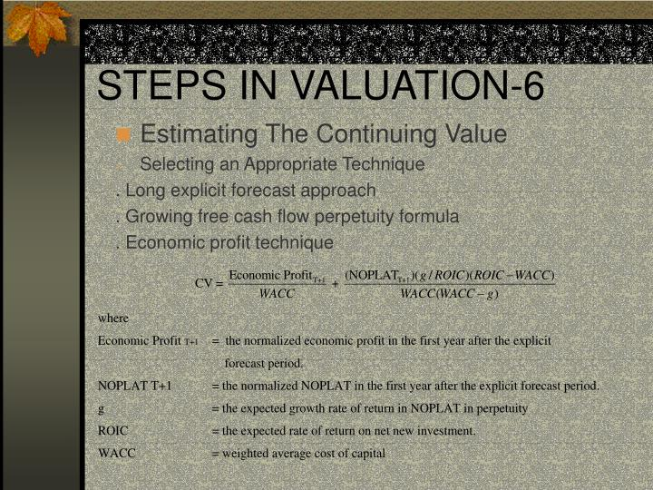 STEPS IN VALUATION-6