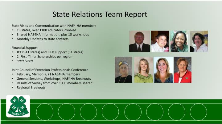 State Relations Team Report