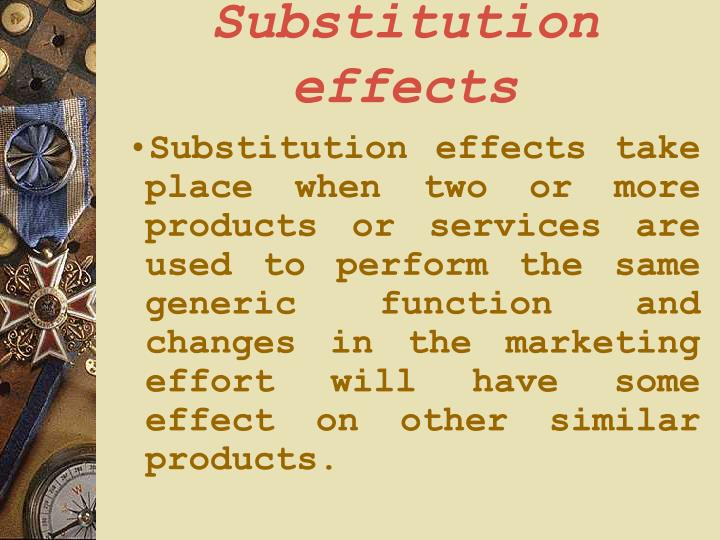 Substitution effects