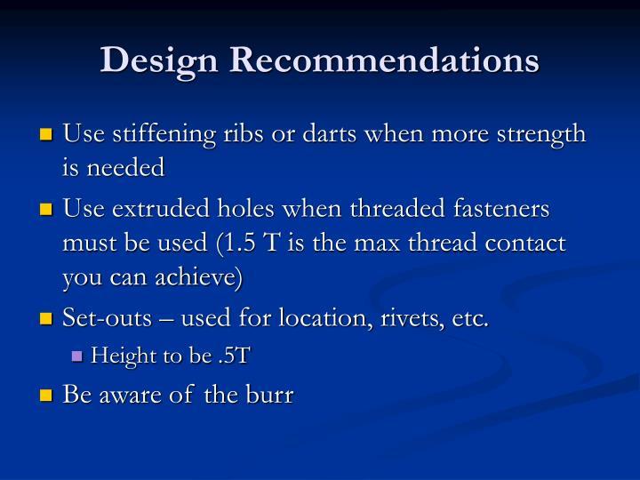 Design Recommendations