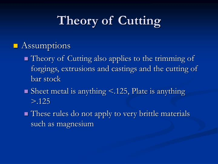 Theory of Cutting