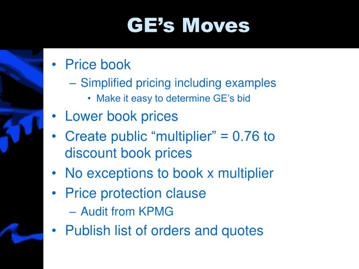 GE's Moves
