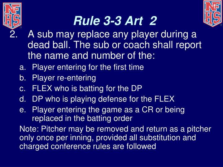 Rule 3-3 Art  2