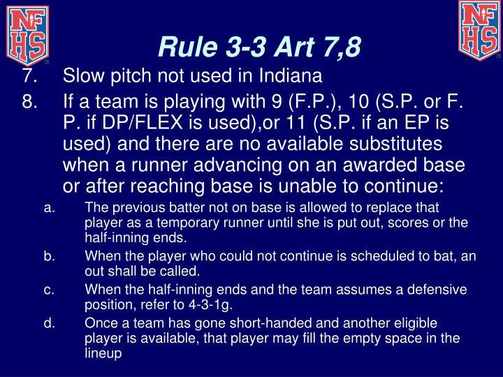 Rule 3-3 Art 7,8