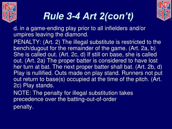 Rule 3-4 Art 2(con't)